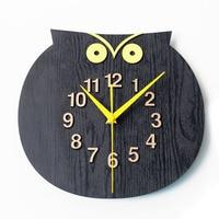 Animal Wooden Cute Wall Clock Simple Pow Patrol Modern Design Creative Clocks Wood Wall Watch Relogio Parede Home Decor 50ZB075