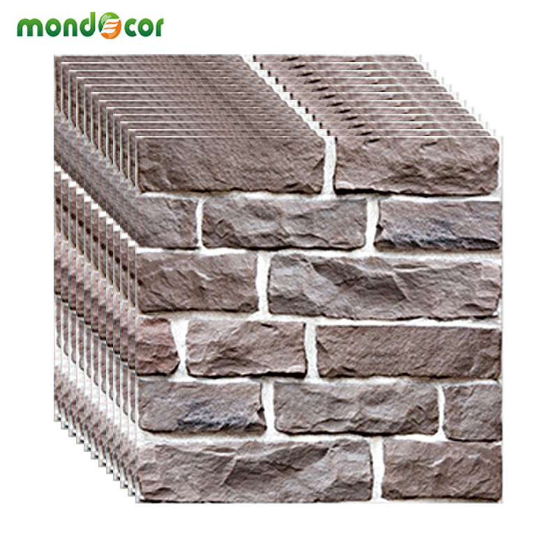 30*30cm PVC Modern Brick Stone 3D Mural Wallpaper DIY Self Adhesive Wall Paper Living Room Bedroom TV Background Home Decoration