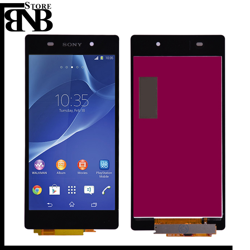 AAA 5.2 INCHES For <font><b>Sony</b></font> Xperia Z2 L50W D6502 D6503 LCD Display with Digitizer Touch Screen Assembly Black image