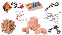 8PCS/Set Mixed IQ Metal Wooden Brain Teaser Puzzles Game for Adults Children
