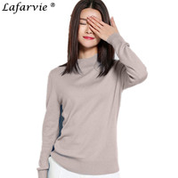 Lafarvie 2016 Women Cashmere Sweater Fashion Slim Solid Autumn And Winter Knitted Warm Turtleneck Pullover Women