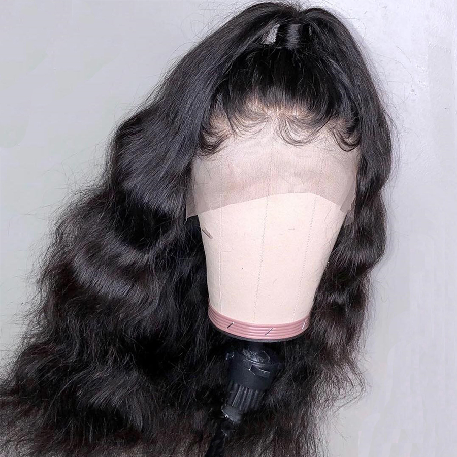 180 Lace Front Human Hair Wigs Pre Plucked Lace Front Wig With Baby Hair Remy Hair