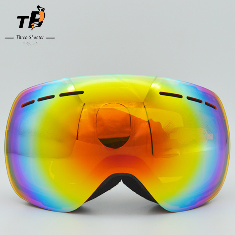 Outdoor Large Frame Double Layer Lens Skiing Eyewear Goggle Anti-Fog UV Protection for Skiiing Camping Cycling and Hiking
