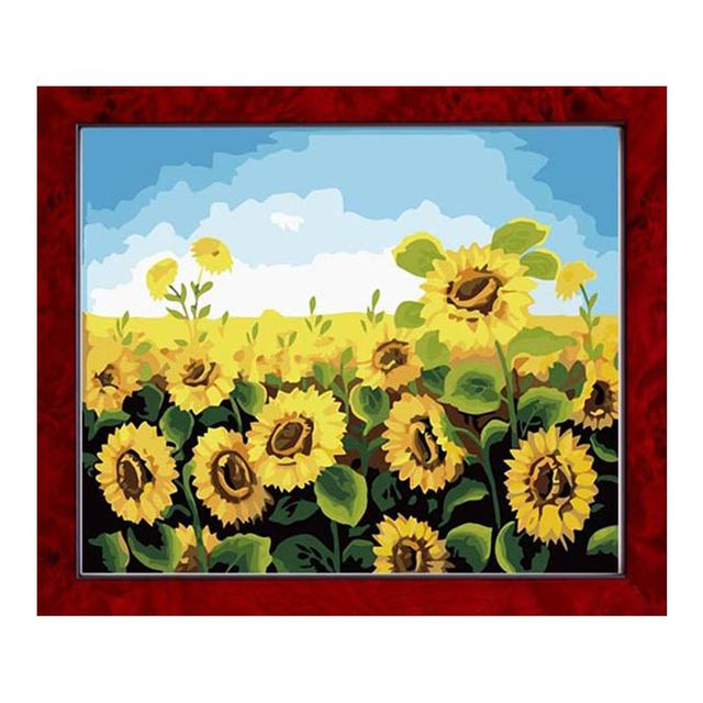 DIY Embroidery DMC14CT Printing Cross Stitch Counted Kits Pattern Sunflower