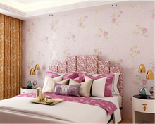 beibehang Stereo papel de parede Simple Non-woven Pastoral Warm Wedding Room Full House Bedroom Living Room Wallpaper wall paper beibehang background wallpaper non woven gliter damask wall paper for living room bedroom papel de parede tapete contact paper