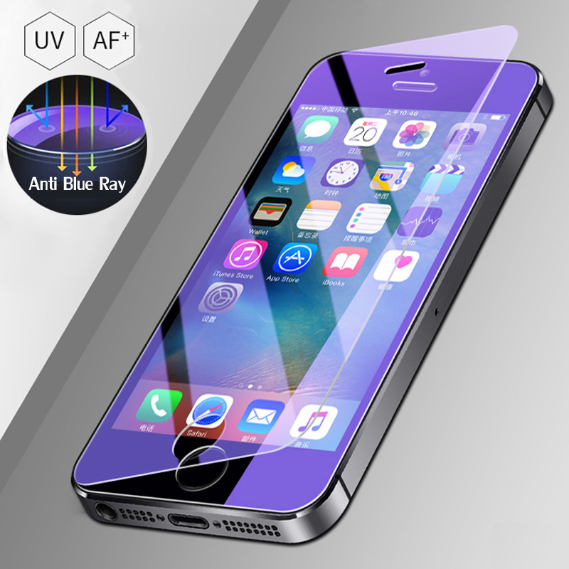 Tempered Glass On The For Apple iPhone 5S 5 SE 5C Screen Protector 9H Anti Blue Light Protective Film Glass