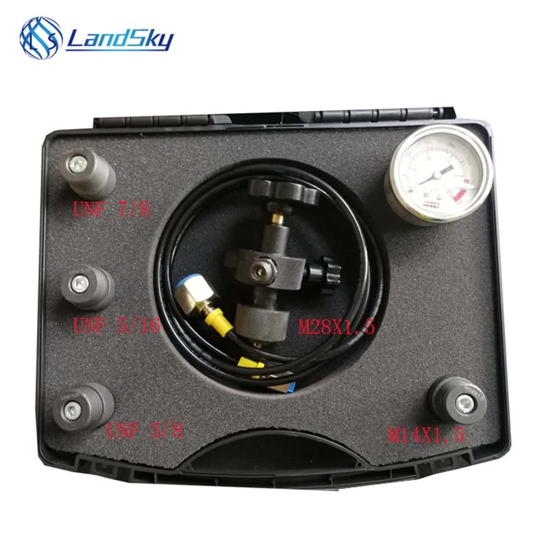 Hydraulic accumulator charging pressure nitrogen gas hydraulic accumulator charging kit PFU-25 inflatable tool 5/16-32UNF 7/8UN