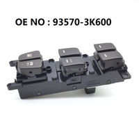 93570 3K600 Power Master Window Switch Button Front Left Driver Side For 08 10 Hyundai Sonata