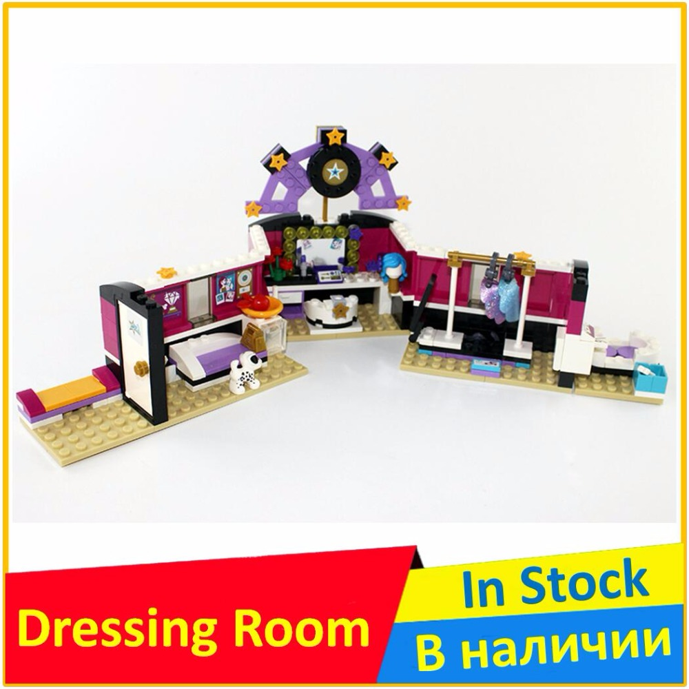 цена на Pop Star Dressing Room 41104 Buidling Blocks Model Toys For Children BELA 10404 Compatible legoed Friends Bricks Figure Set