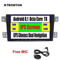 Ips 8 Octa core Android 8,1 автомобильный dvd плеер для Suzuki Grand Vitara 2011 2005 с gps ГЛОНАСС Wifi Bluetooth Зеркало Ссылка радио