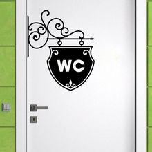 New 3D door decoration switch personalized bathroom door for children's room wallpaper decoration toilet door sticker