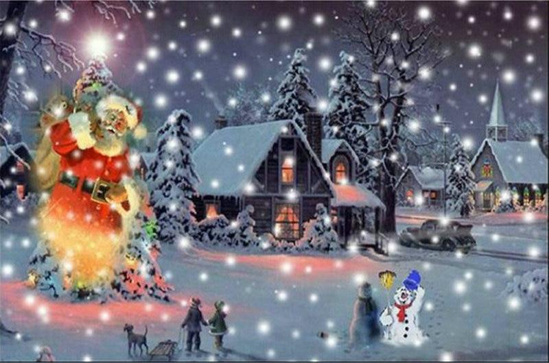 3D Diamond Embroidery Christmas scenery Santa Claus Diy ...