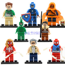 DR TONG Building Blocks New Marvel Founder Stan Lee SuperHero SDCC Captian America Hobgoblin Mini Dolls