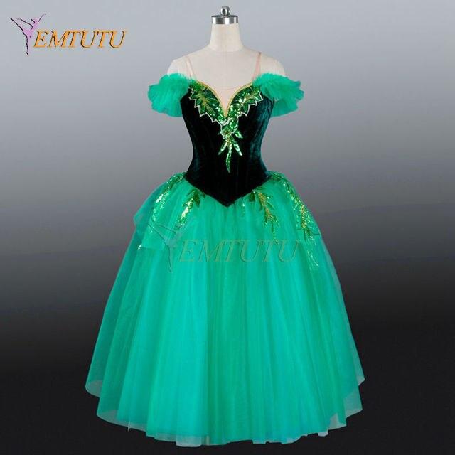 b63e68781b679 Women professional ballet long tutu Green adult long tutu dress adult  emerald fairy romantic ballet tutu