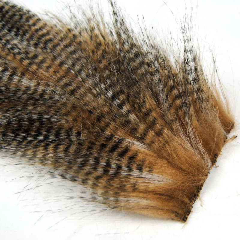50 Bags 5 X 12CM Grizzly Color Fly Tying Furabou Craft Fur Fiber for Streamer Tail