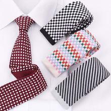 Разнообразные мужские вязаные галстуки модные 5 см Плоская узкая