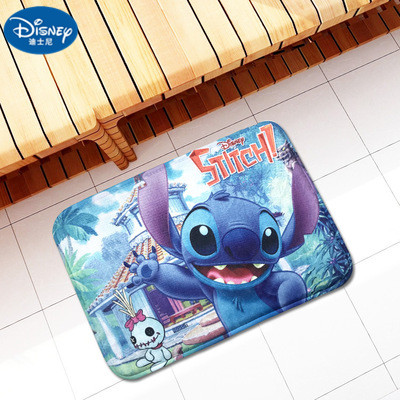 Disney Cartoon 38x58cm Stitch Rug Children Kids Bathroom Mat Bedroom Bathroom Decor Carpet Indoor Floor Mat