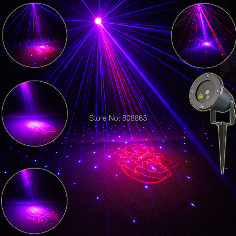 Outdoor Waterproof R&B Blue Laser 8 Christmas Projector Indoor Coffee Holiday House Xmas Tree Wall Landscape Garden Light T49 new generation of led outdoor firefly light projector waterproof display landscape square garden tree christmas laser lighting page 9 page 8
