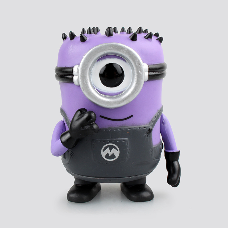 Anime <font><b>FUNKO</b></font> <font><b>POP</b></font> <font><b>Despicable</b></font> <font><b>Me</b></font> <font><b>2</b></font> Purple <font><b>Carl</b></font> Mnion Doll Vinyl Bobble Head PVC Model Chidlren Toy 10cm 4""