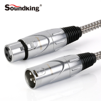 Soundking High Quality Waterproof Microphone Cable XLR Male To XLR Female Mic Connection suit for Mixer Amplifier Speaker B01