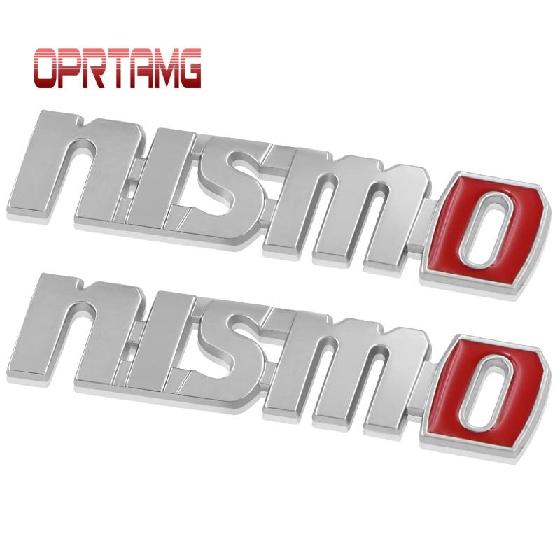 2x Metal NISMO Auto Car Nismo Badge Emblem Decal Sticker For Nissan Tiida Teana Skyline Juke X-trail Almera Qashqai Accessories