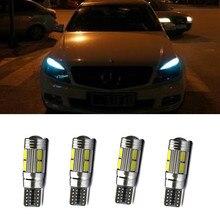 Ampoules pour sourcils et paupières, sans erreurs, pour Mercedes Benz W204 C350 AMG LED 2008 2009, 4 pièces, 8 SMD 2010