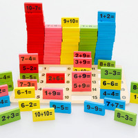 New Sale 1 Set Colourful Montessori Educational Toy Wooden Math Toys for Children Game Funny Gifts Kids Preschool Wooden Toy