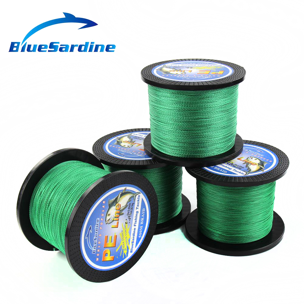 BlueSardine Green Braided Fishing Line 500M Multifilament PE Braid - თევზაობა - ფოტო 5