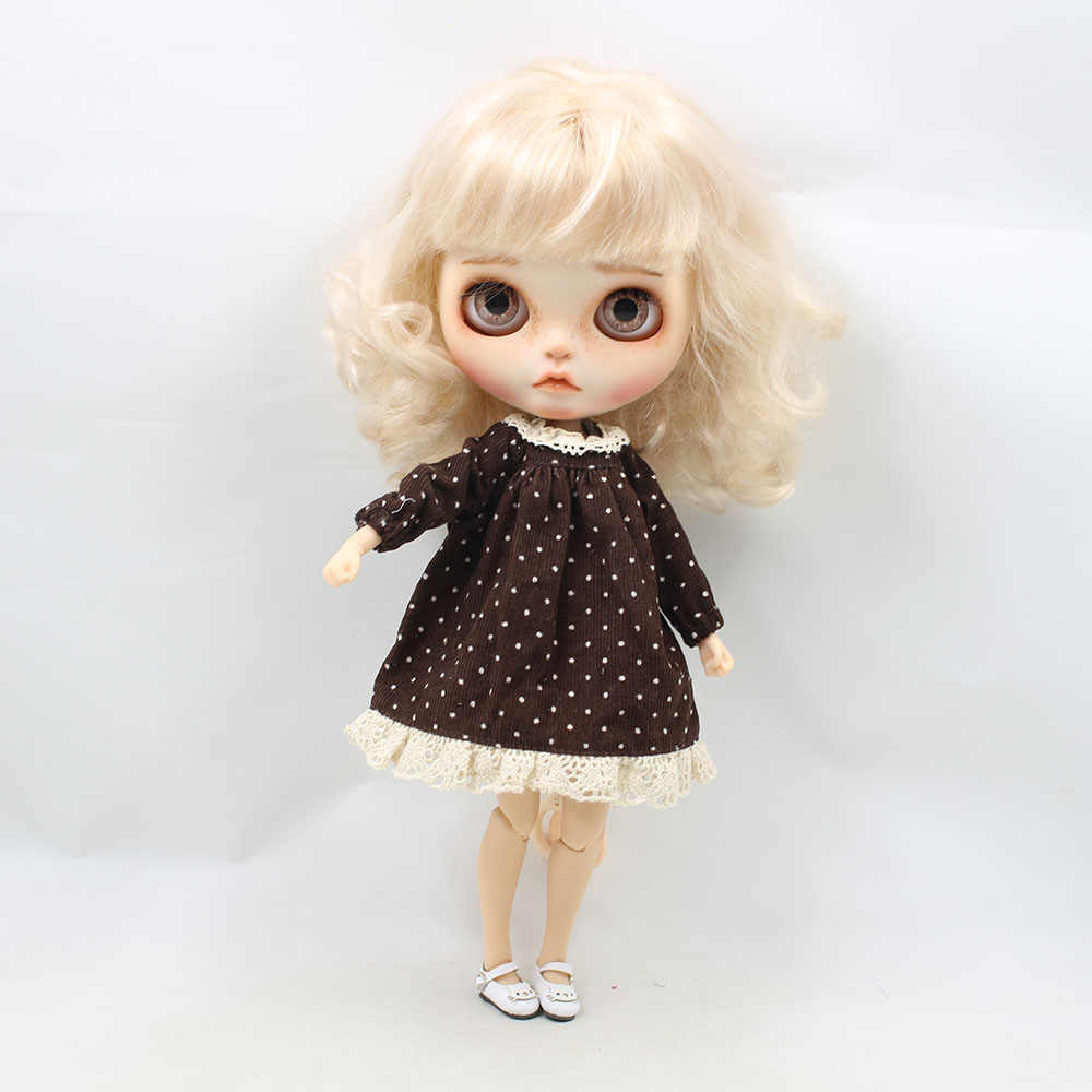 blyth doll Polka dot skirt suitable for 1/6 joint blyth icy dolls azone body girl gift