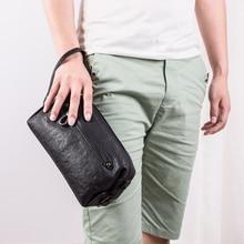 BAQI Brand Men Handbags Wallets Clutch Genuine Leather Soft Sheepskin 2019 Fashion Casual Bag Designer Ipad Phone