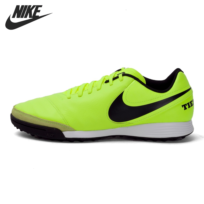 Original New Arrival 2017 NIKE TIEMPOX GENIO II LEATHER TF Men's Football Shoes Soccer Shoes Sneakers tiebao a13135 men tf soccer shoes outdoor lawn unisex soccer boots turf training football boots lace up football shoes