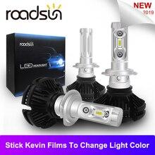 Roadsun LED H7 H4 Del Faro Dell'automobile Della Lampadina H11 9005 9006 HB3 HA CONDOTTO le luci Kit 50 W 3000 K 6000 K 8000 K Luxeon Lumiled ZES Chip di Lampada Auto