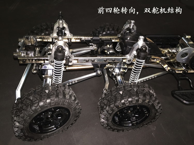 US $349 0 |1/10 scale Remote control car model 8x8x4 10x10x4 12x12 chassis  Frame Rock Crawler Truck RC-in Parts & Accessories from Toys & Hobbies on