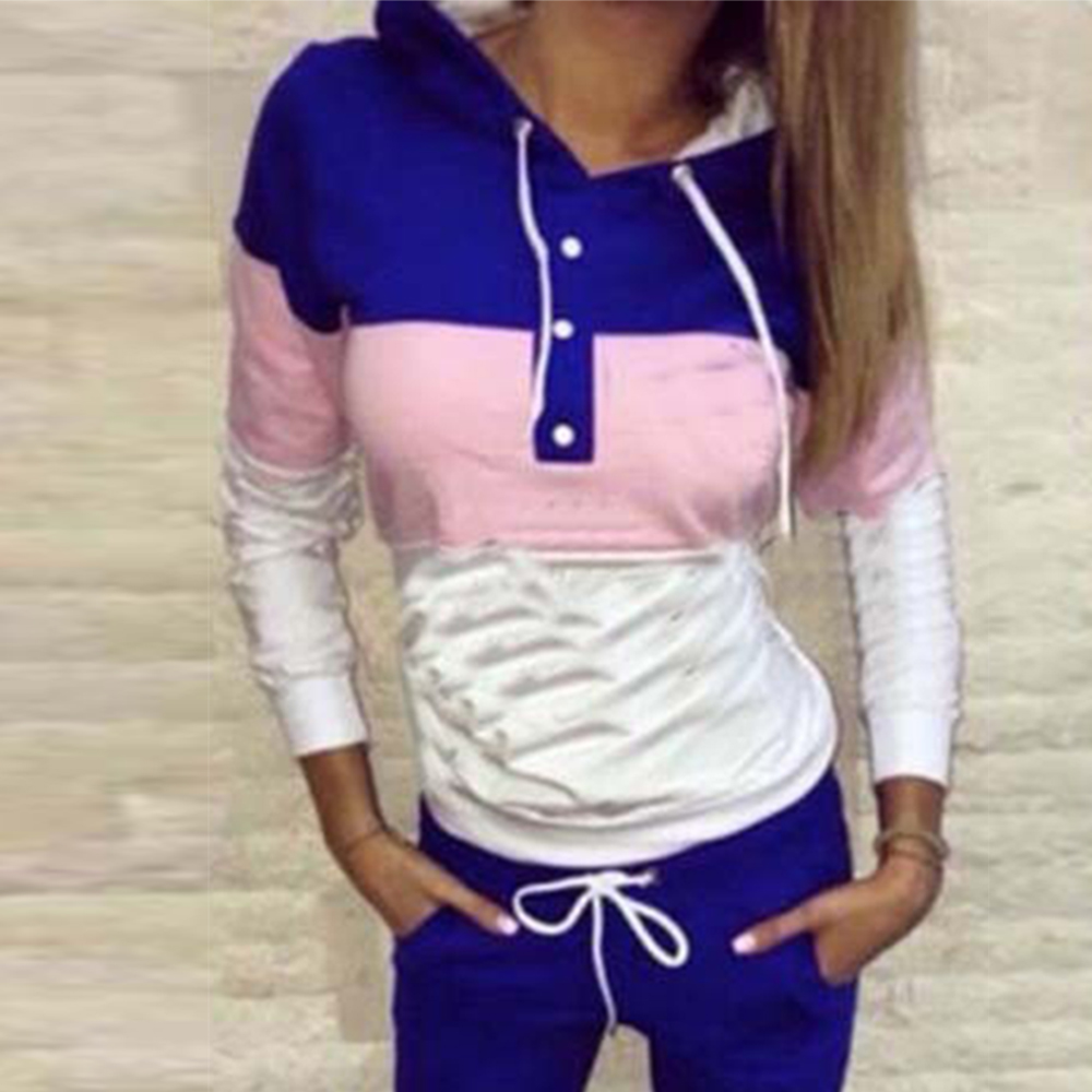Autumn Women Suits Casual Tracksuit Hoodies Tops And Long Pants Two Piece Sets Female Sport Wear Suit