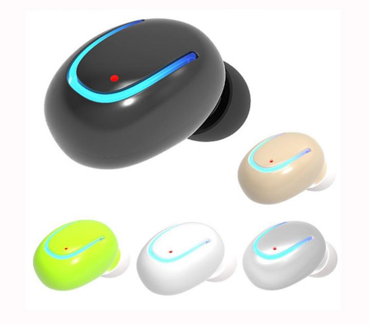 Mini Bluetooth Headset Wireless Earphones V4.1 In-ear Music EarBuds Headset With Mic for iPhone android samsung power display