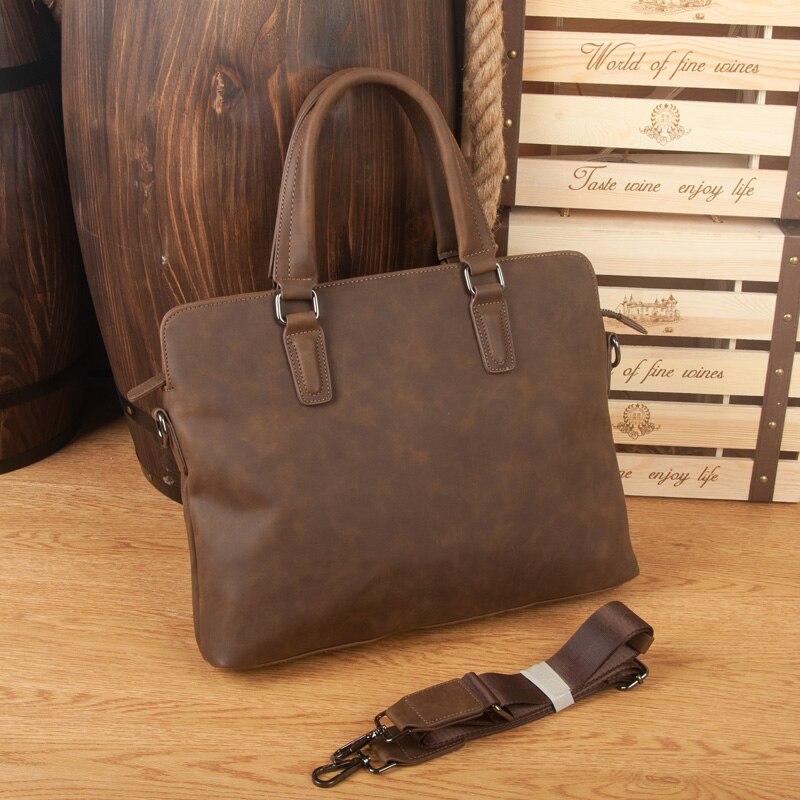 Business Leather Men Briefcases Famous Brand Men's Crossbody Bags 2018 Male Messenger portfolio Bags Office Work Bags Handbags