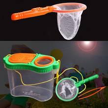 Caixa portátil do observador do inseto lupa brinquedo caixa de observação alimentação inseto crianças ao ar livre equipamento experimento suprimentos c42