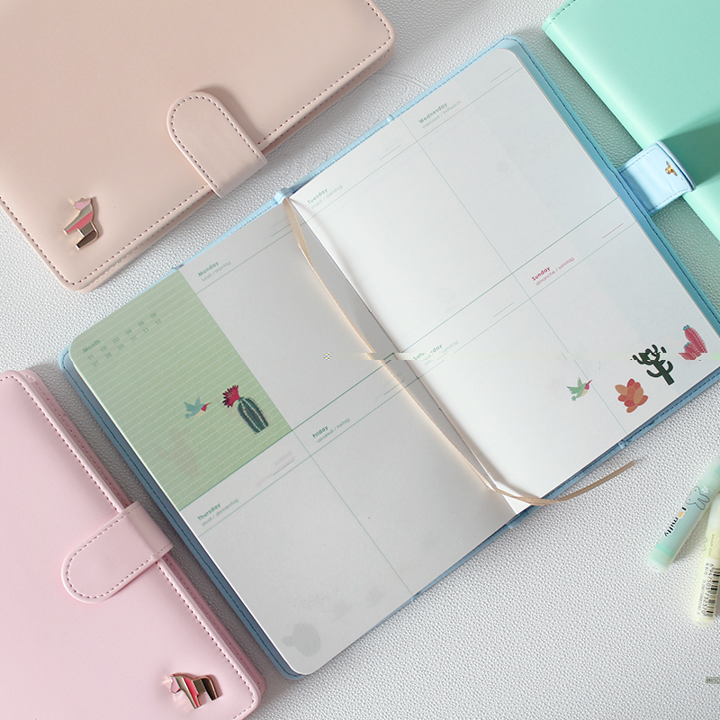 Japanese Cute Stationery A5 Hobo Horse Leather Notebook Planner Monthly Plan Weekly Plan Agendas Book Travel's Notebook 2017 ten light color hobo japanese light amount notes the books envelope contain within core general purpose student notebook