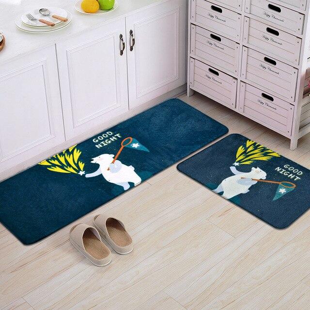 50X80+50X120CM/Set Good Night Kitchen Mat Home Entrance/Hallway Door Mat  Anti