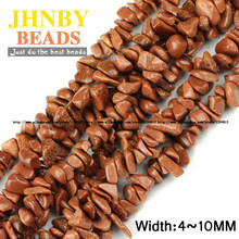 JHNBY Gold sandstone Irregular Gravel beads Top quality Natural stone 85cm Freeform Chips Loose beads Jewelry bracelet making()
