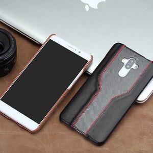 Image 5 - Carcasa de teléfono móvil wangcangli para Huawei Mate 9, funda de teléfono móvil avanzada personalizada de piel de vaca y textura de diamante, Funda de cuero
