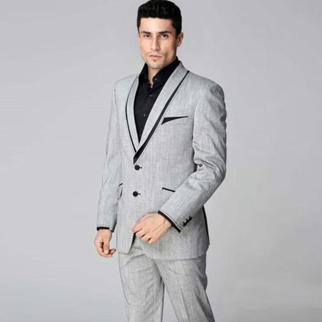 Venda quente do casamento do noivo smoking padrinhos Suit Popular Men desgaste Formal do negócio