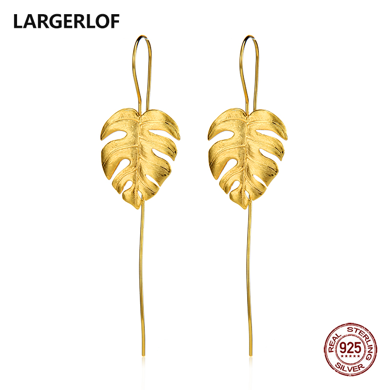 LARGERLOF 925 Sterling Silver Earrings women Drop Earrings Handmade Fine Jewelry Silver 925 Jewelry Flower Earrings ED50103 цена 2017