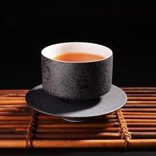 300ML White Black Handmade Traditional Chinese Style Round Ceramic Kungfu font b Tea b font Cup