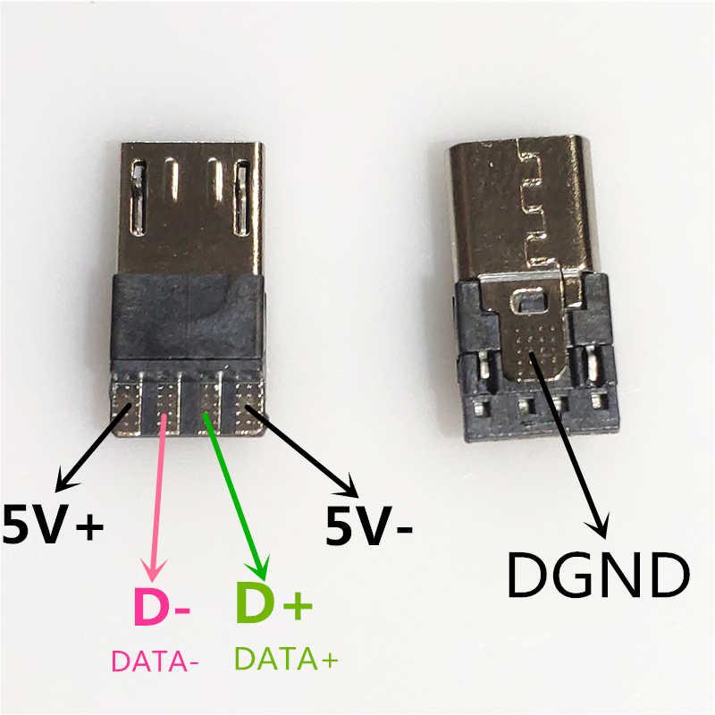 10PCS/LOT Micro USB 4Pin Male Plug connector For Data OTG ...