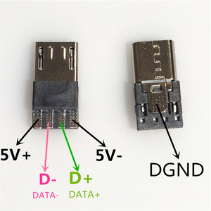 10PCS/LOT Micro USB 4Pin Male