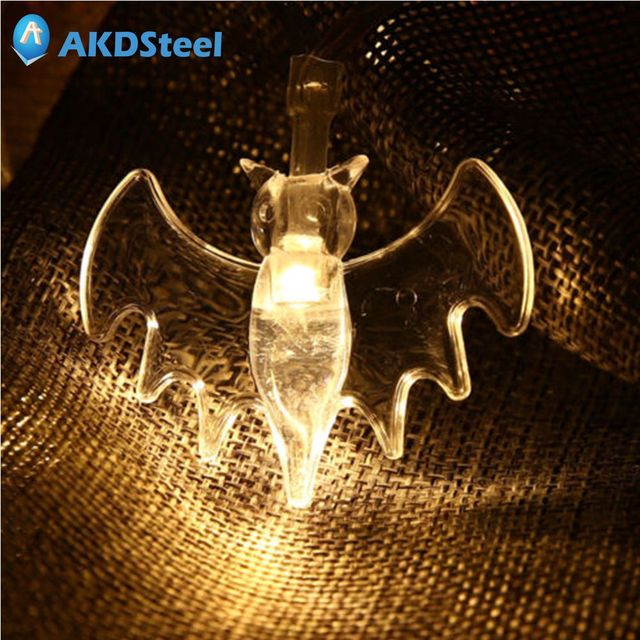 akdsteel 2 2m 20 led bat string light christmas new year carnival