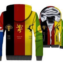2018 Autumn Winter Hoodies For Men 3D Printed Clothing Jacket Game Of Thrones Men's Sweatshirts Hip Hop Hoddie Male Jackets Tops цена