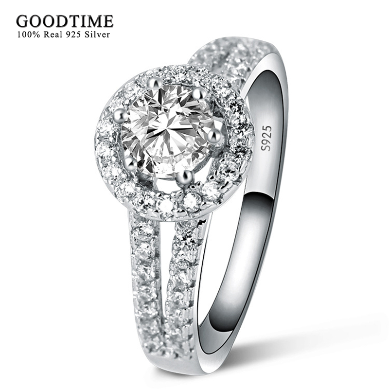 Aliexpress Hot Ring Silver 925 Jewelry 100 Pure Engagement S925 Stamp Zirconia Wedding Rings For Women Gift Gtr039 From