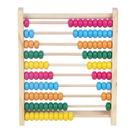 Montessori Kids Math Toys Wood Colorful Beech Abacus Teaching Learning Educational Preschool Training Brinquedos Juguets